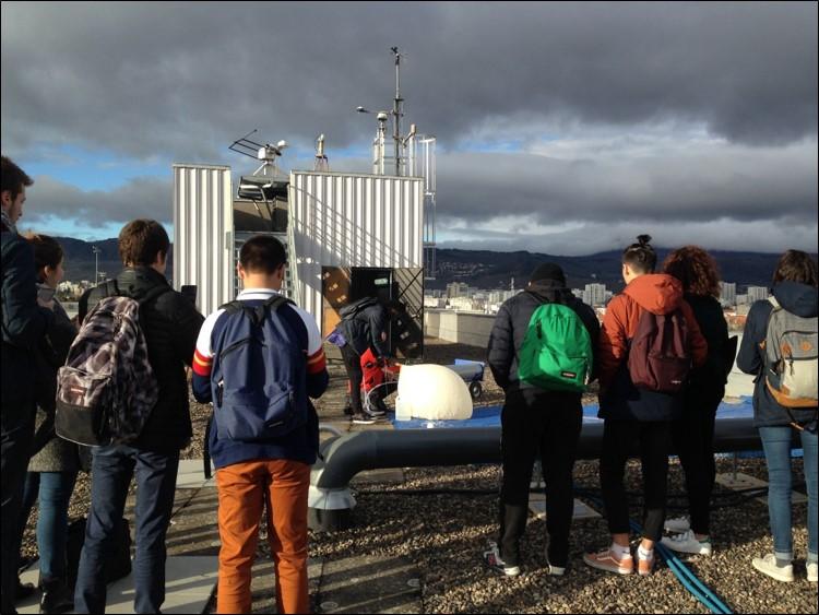 Préparation sur le toit du bâtiment de Physique - Campus des Cézeaux