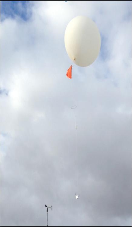 Le ballon dans les airs
